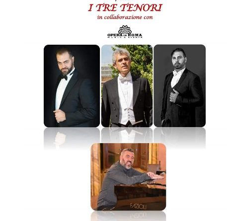 'I tre tenori', al Teatro Antico di Taormina, 27 agosto, ore 21,30