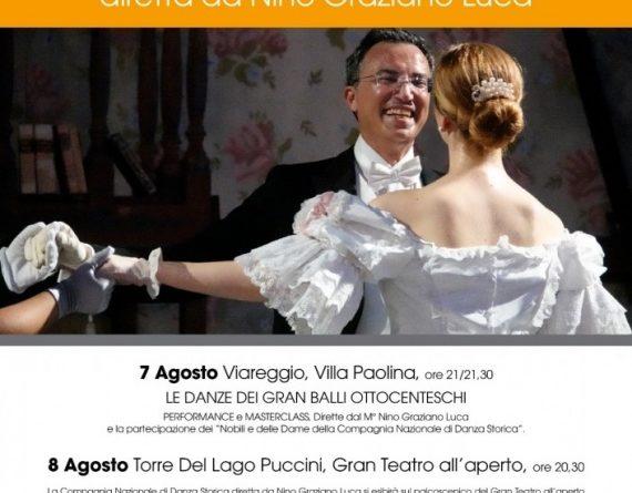 Viareggio: La Compagnia Nazionale di Danza Storica il 7 e 8 agosto al 66° FESTIVAL PUCCINI