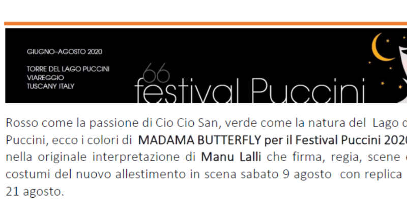 Madama Butterfly in chiave ecologica in scena al festival Puccini