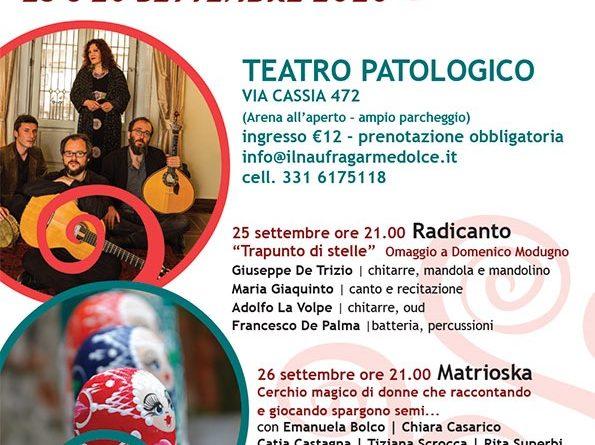Agorà Teatro e Musica alle Radici // 25/26 settembre Teatro Patologico