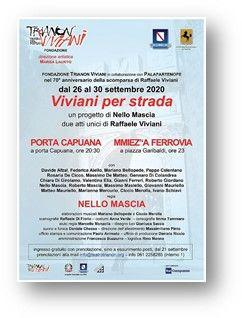 """TRIANON VIVIANI, """"Viviani per strada"""" spostato in teatro per l'allerta meteo – SABATO 26 e DOMENICA 27 settembre"""