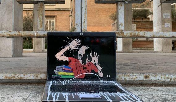 """Roma: la nuova Opera di LAIKA al Liceo Giulio Cesare dal titolo: """"2021: IN PRESENZA, IN SICUREZZA"""""""