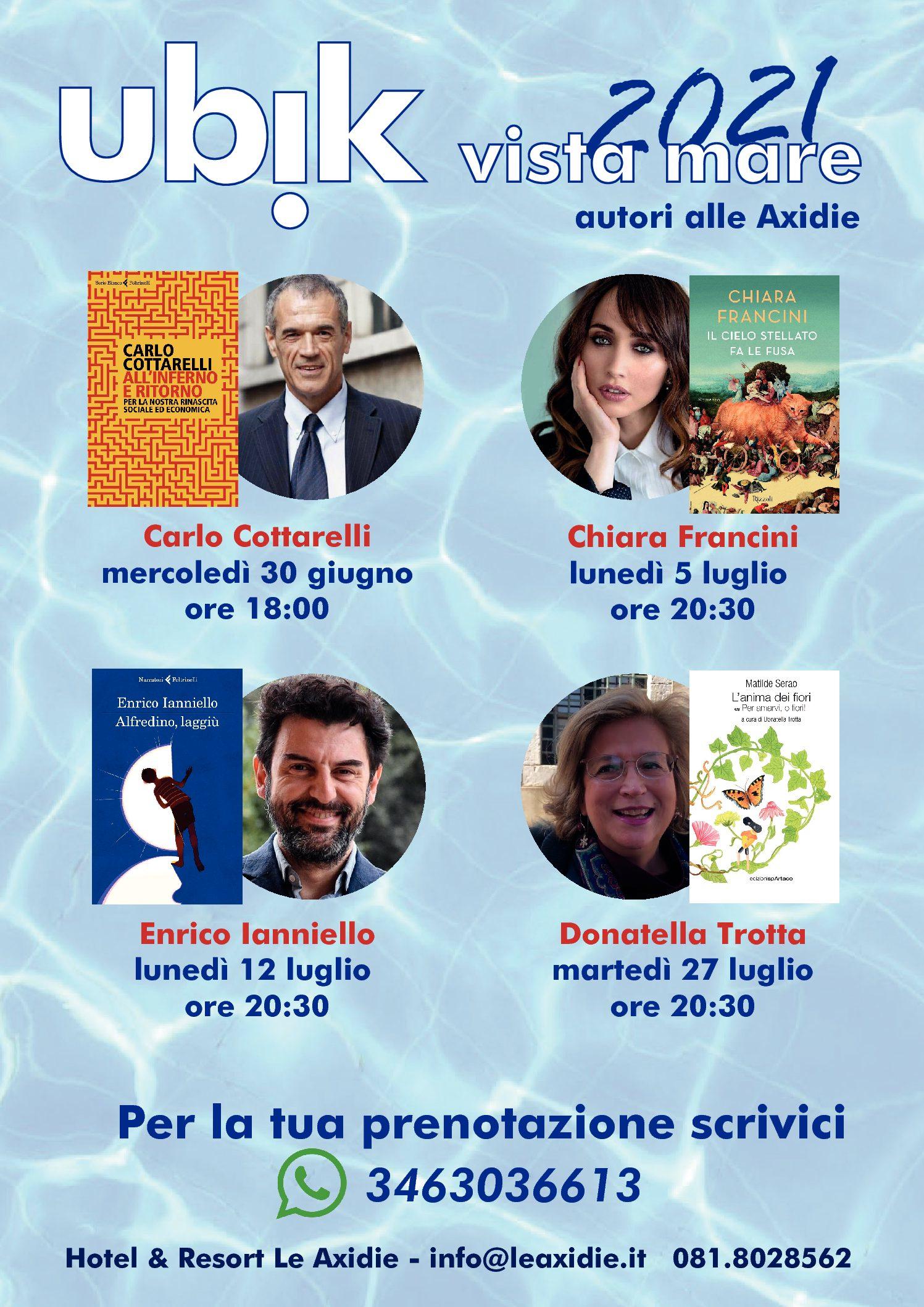 Ubik Vico Equense comunicato rassegna Ubik Vista Mare 21- 30 giugno ospite Carlo Cottarelli