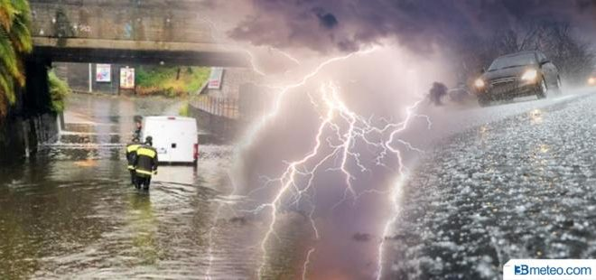 Meteo:  nord bersagliato da temporali, nubifragi e grandine